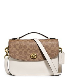 COACH - Cassie Leather & Signature Coated Canvas C