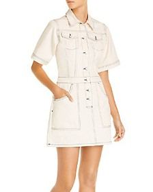 FRENCH CONNECTION - Rika Cotton Utility Mini Dress