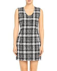 Theory - Sculpt Rubber Tweed Dress