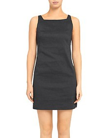 Theory - Square Neckline Sheath Dress