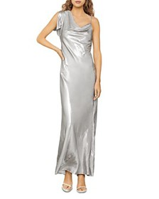 BCBGMAXAZRIA - One-Sleeve Satin Gown