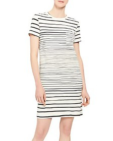 Theory - Striped T-Shirt Dress