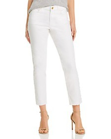 Escada Sport - Studded Ankle Jeans in White