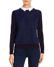 Tory Burch - Lace-Front Layered-Look Sweater