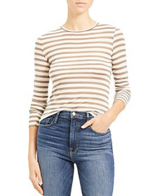 Theory - Striped Long-Sleeve Tiny Tee