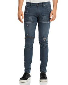 G-STAR RAW - 5620 3-D Zip Knee Skinny Fit Jeans in