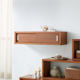 Crate Barrel Aspect Walnut 47.5
