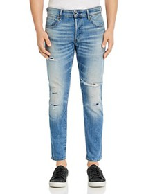 G-STAR RAW - 3301 Slim Fit Jeans in Worn In Ripped