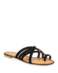 Charles David Session Suede Crisscross Strap Sanda