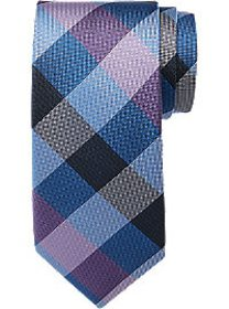 Tommy Hilfiger Purple Large Check Narrow Tie