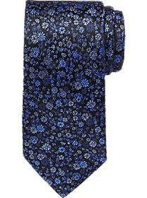 Awearness Kenneth Cole Navy & Blue Floral Narrow T