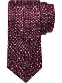 Awearness Kenneth Cole Wine Red Textured Narrow Ti