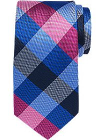 Tommy Hilfiger Pink & Blue Large Check Narrow Tie