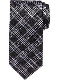 Awearness Kenneth Cole Black Plaid Narrow Tie
