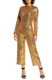 Halogen X Atlantic Pacific Sequin Jumpsuit
