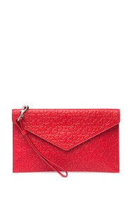 Rebecca Minkoff Heart Embossed Leo Leather Envelop