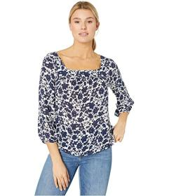 Lucky Brand Liane Square Neck Blouse