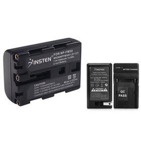 Insten Battery + Charger for Sony NP-FM50 NP-FM30