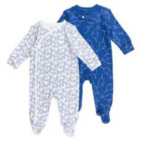 Baby Unisex (NB-9M) Mac & Moon 2pk. Narwhal Footed