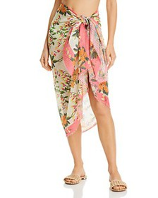 Echo - Bluebell Vines Wrap Pareo Swim Cover-Up