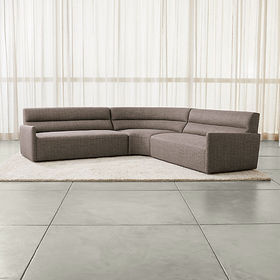 Crate Barrel Sydney 3-piece Curved Sectional