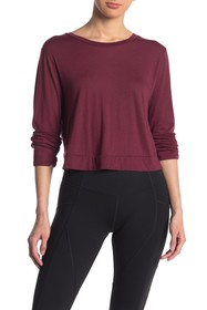 Beyond Yoga Back Out Long Sleeve Crop Top