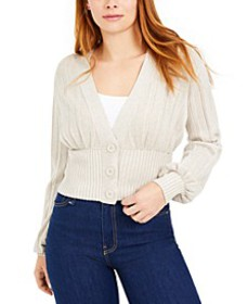 Ribbed Pleated Cardigan, Created For Macy's