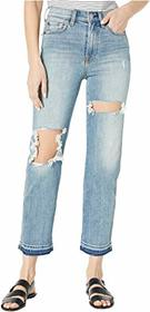 7 For All Mankind High-Waist Cropped Straight in T