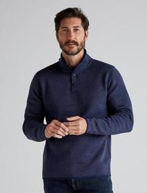 Lucky Brand Solid Mock Neck Los Feliz Fleece