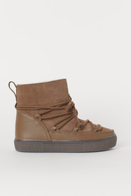Warm-lined Suede High Tops