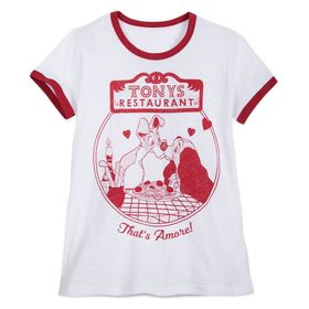 Disney Tony's Restaurant Ringer T-Shirt for Women