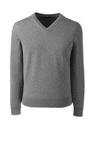 Lands End Men's Basic Cotton Vneck Sweater