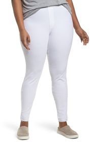 HUE Selvage Edge Ripped Jeggings (Plus Size)