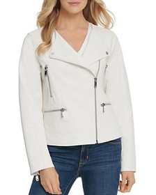 DKNY - Faux-Leather Moto Jacket