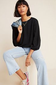 Anthropologie Cammie Puff-Sleeved Top