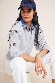 Anthropologie Ruthie Eyelet Pullover