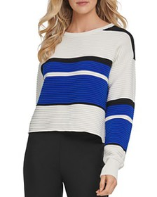 DKNY - Ribbed Colorblocked Sweater