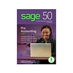 Sage 50 Pro Accounting 2020 for 1 User, Windows, D