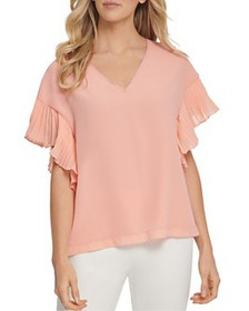 DKNY - Ruffle-Sleeve Top