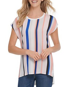 DKNY - Striped High/Low Top