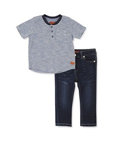 7 For All Mankind - Boys' Thermal Henley Tee & Jea