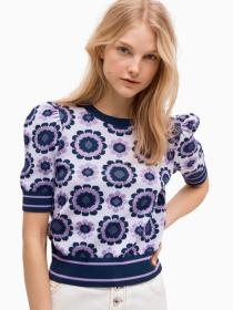 geo floral sweater