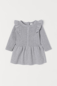 BABY EXCLUSIVE Knit Cotton Dress