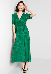 Hutch A League of Her Own Maxi Dress Green