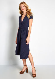 ModCloth Easily Adored Knit Dress Navy