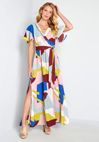 ModCloth Your Time to Shine Maxi Dress Multicolor