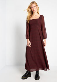 Let Me Double-Check Maxi Dress Red/Black Checkers