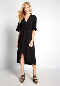 This Means Bliss Midi Dress Black