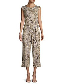 JONES NEW YORK Snakeskin-Print Cropped Jumpsuit AN