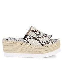Charles by Charles David Sporty Snakeskin-Print Pl